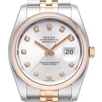 Rolex Datejust 36 Edelstahl Roségold 116201 Silber DIA Jub