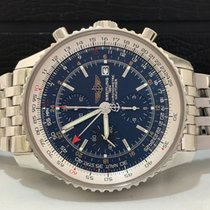 Breitling Navitimer World Blue 46mm Completo Impecável