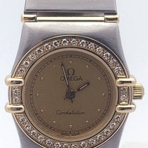 Omega Two Tone Yellow Gold Constellation With Diamond Bezel...