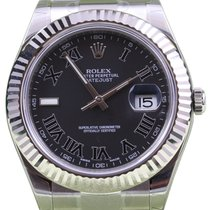 Rolex Datejust II 116334 Roman Black 41mm White Gold 2017