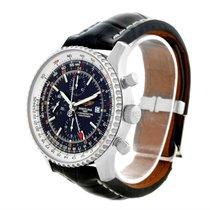 Breitling Navitimer World Chrono Gmt Steel Watch A24322 Box...