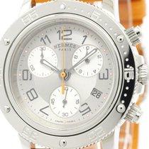 Hermès Polished Hermes Clipper Diver Chronograph Quartz Unisex...