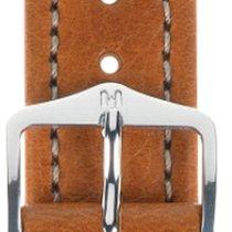 Hirsch Uhrenarmband Leder Buffalo goldbraun L 11320275-2-22 22mm