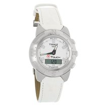 Tissot T-Touch Ladies Analog Digital Leather Strap Watch...