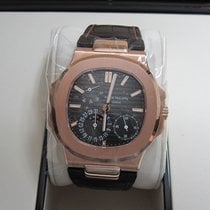 Patek Philippe Nautilus Moonphase 18K Rose Gold/Black-Brown Dial