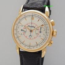 "Breitling Chronograph ""Serie Limitee"" Vintage -Gold..."