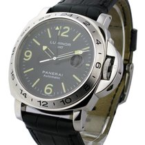 Panerai PAM00029a Luminor GMT 44mm in Steel - on Leather Strap...