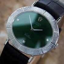 Rolex Cellini Mens 18K Solid Gold Manual Diamond Dress Watch...