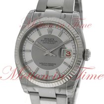 "Rolex Datejust 36mm ""Red Date"", Steel & Silver..."