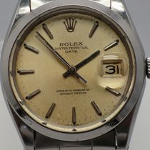 Rolex Vintage Date 1500 Patina Dial Oyster Polished 35mm w/ Box