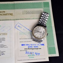 Rolex 1601 Datejust Silver Wide Boy Dial w/Double Punched Papers