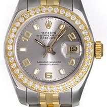 Rolex Ladies 2-Tone Datejust Watch 179173 Silver Dial