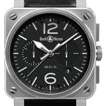 벨앤로스 (Bell & Ross) BR03-94 Chronograph 42mm BR0394-BL-SI/SCA
