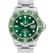 Rolex Submariner Steel Pre-Owned 16610 Custom Green