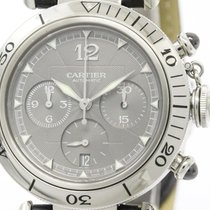 カルティエ (Cartier) Polished Cartier Pasha 38 Chronograph 2004...