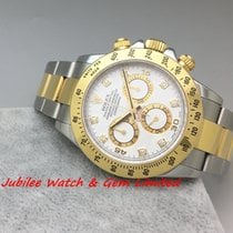 Rolex 116523G Daytona Gold & Steel White Diamond M serial