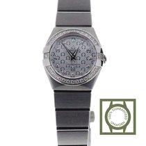 Omega Constellation Quartz 24mm Silver Dial Diamonds NEW