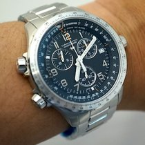 Hamilton KHAKI AVIATION X-WIND GMT CHRONO QUARZO Steel...