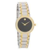 Movado Stiri Ladies Black Dial Two Tone Swiss Quartz Watch...