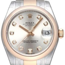 Rolex Datejust 31 Edelstahl Everose 178241 Silber DIA