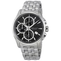 Hamilton Jazzmaster Chronograph Automatic Black Dial Mens Watch