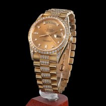 Rolex day-date yellow gold and diamonds men size