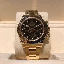 Rolex Daytona Black Dial Full Gold B&P