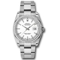 Rolex Datejust 36mm - Steel White Gold Diamond Bezel - Oyster