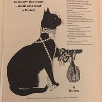 Rolex Vintage Rolex black cat advertising