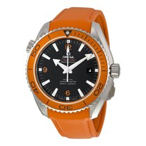 Omega Mens Planet Ocean Automatic Rubber Strap Watch 232.32.46...