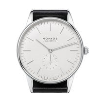 Nomos GLASHÜTTE Orion 38 weiss sapphire crystal back 386
