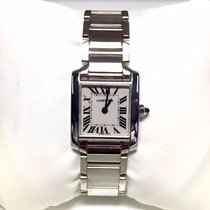 Cartier Tank Francaise 18k Solid White Gold Ladies Watch In Box