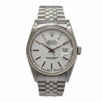 Rolex Date just W.Gold/Steel White Index 16234