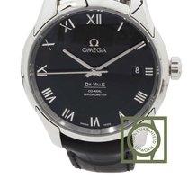 Omega De Ville Co-Axial 41mm Black Roman Dial NEW
