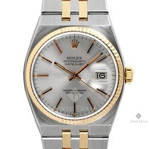 Rolex OysterQuartz Datejust Steel and Gold Silver Stick Dial...