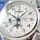 Longines Master Collection Moon-Phase Triple Date Steel Mens...