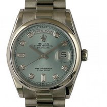 Rolex Day Date 950 Platin Diamond Armband Präsident 36mm Ref....