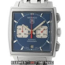 TAG Heuer Monaco Steve McQueen Chronograph Steel 38mm Blue Dial