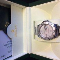 Rolex Yacht master Steel  Platinum bezel box paper