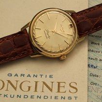 Longines flagship 18 kt yellow gold dial pie pan with papers
