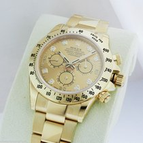 Rolex Daytona Champagne Diamond Dial Box and Papers 116528