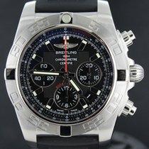 Breitling Chronomat 44MM Flying Fish, Black Dial Rubber Strap...