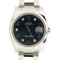Rolex Date 115234 In Steel And Diamonds, 34mm