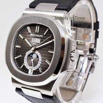 Patek Philippe Nautilus Steel Annual Calendar Watch Box &...