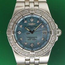 Breitling Starliner 30mm Blue Mother Of Pearl Diamonds Dial...