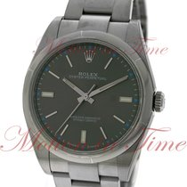 Rolex Oyster Perpetual No-Date 39mm, Dark Rhodium Dial, Domed...