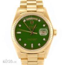 Rolex Day-Date 18038 STELLA Diamond Dial Toxic Green Papiere