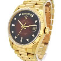 Rolex Oyster Perpetual Day-Date 18K Gold 18038A, Orig. Diamond...