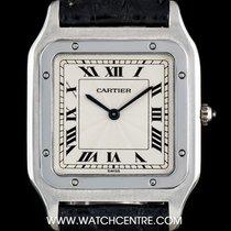Cartier Platinum Silver Roman Dial Santos Dumont Gents