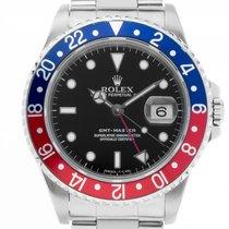 Ρολεξ (Rolex) GMT Master rot blau Pepsi Stahl Automatik...